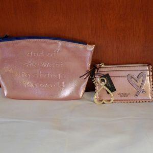 Victoria's Secret Rose Gold Wristlet Mini Purse